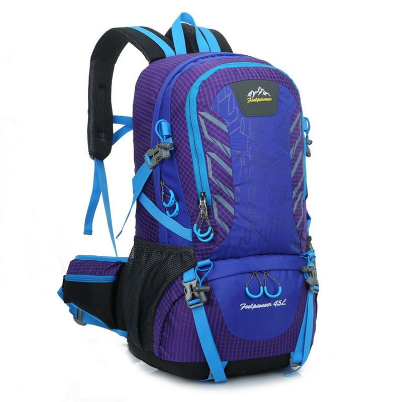 New Mountaineering backpack Women Men Outdoor camping hiking mountaineering leisure travel bag 420D Waterproof backpacks