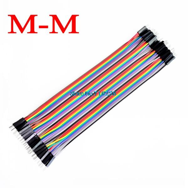 800PCS Dupont Cable Jumper Wire Dupont Line Male To Male Dupont Line 20cm 1P Diameter 2.54mm
