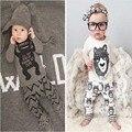 1 компл. Розничная! 2017 детская одежда стиль ребенка bebes дети комплект одежды мальчик с длинными рукавами Мальчиков Одежда YAA008
