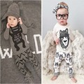 1 set Retail!2017 children's clothing style baby bebes kids clothing set boy with long sleeves Boys Clothes  YAA008