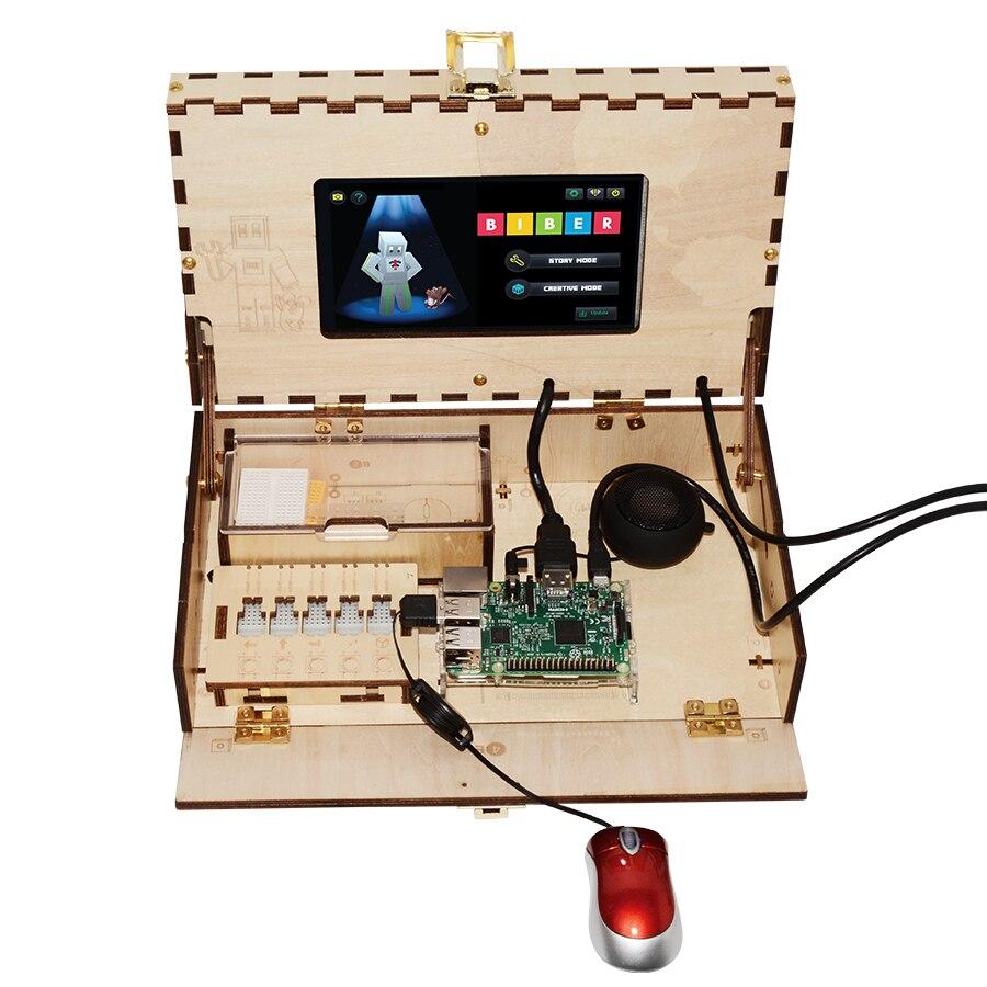 Geeetech Kit de jeu d'ordinateur pour enfants tige et codage jouet d'entraînement basé sur Raspberry Pi panneau de démonstration