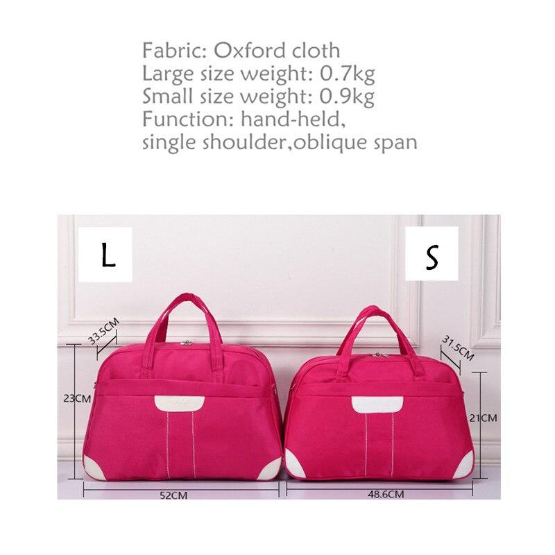 LHLYSGS brand 2018 new Oxford cloth handbags large capacity waterproof baggage bags womens short distance travel essential