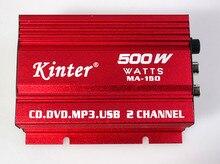 Kinter auto power amplificador subwoofer car audio estéreo amplificador hi-fi 12 v 2ch del usb mini digital de la motocicleta/barco/mp3/mp4/cd