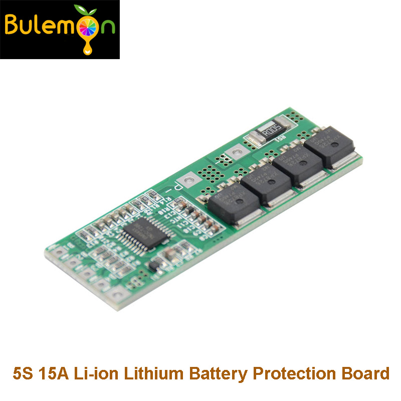 2pcs/lot 5S 15A Li-ion Lithium Battery BMS 18650 Charger Protection Board 18V 21V Cell Protection Circuit