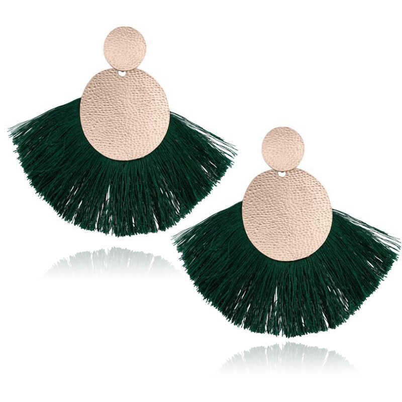 LATS 2019 NEW Big Tassel Drop Earrings for Women Fashion Statement Bohemian Handmade Brincos Fringe Earring Pendientes Jewelry