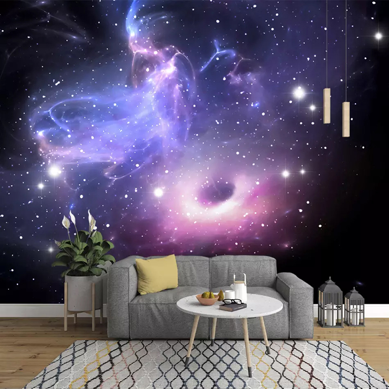 Us 9 51 43 Off Custom 3d Stereoscopic Universe Stars Galaxy Ceiling Mural Wall Painting Ktv Living Room Bedroom Background Wallpaper Murals 3d In