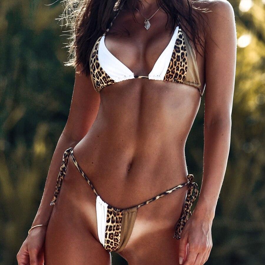 FXBIKINY Bikini Triangle Leopard Bikinis 2019 Mujer Biquinis Feminino Sexy Swimwear Women Swimsuit Push Up Bathing Suit