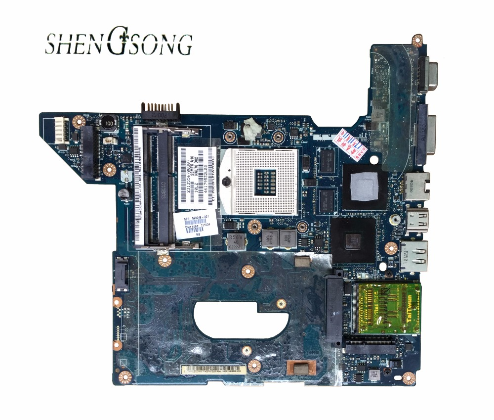 Free Shipping Original Mainboard for DV4 HM55 Series 593119-001 Laptop Motherboard 100% Work Perfect original for asus eeepc 1015e motherboard ulv847 2gb ddr3 laptop rev2 0 main board work perfect free shipping