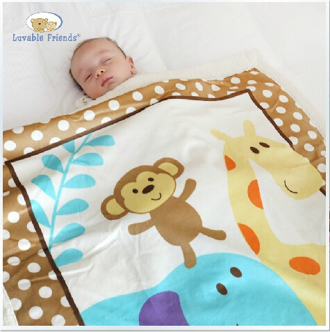 Hot Sale Warm Winter Fleece Baby Blanket Newborn Fleece Blanket Safari Sherpa Bedding Luvable Friends Baby Blanket & Swaddling