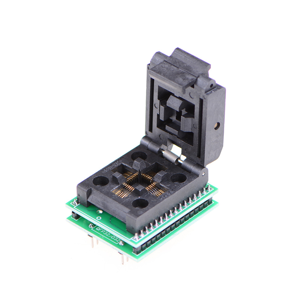 1PC TQFP32 QFP32 LQFP32 TO DIP28 Adapter Socket Support ATMEGA8 ATMEGA8A ATMEGA328 AVR MCU TL866A TL866CS 43.2 * 35.6mm stm8s103k3t6c qfp32