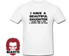 i have beautiful daughter also shovel funny t shirt daddy dad father clothing New T Shirts Funny Tops Tee Unisex