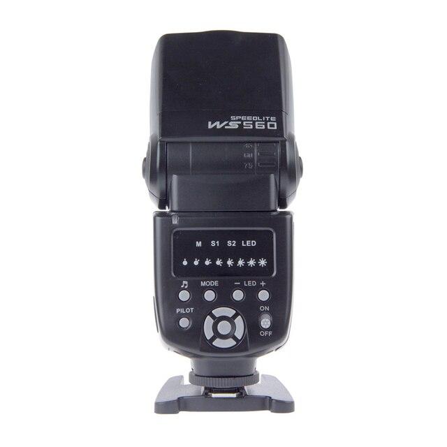 Wansen ws-560 universal led flashes speedlite para nikon canon olympus pentax d3100 d5100 1d 5dii 5 5diii 50d