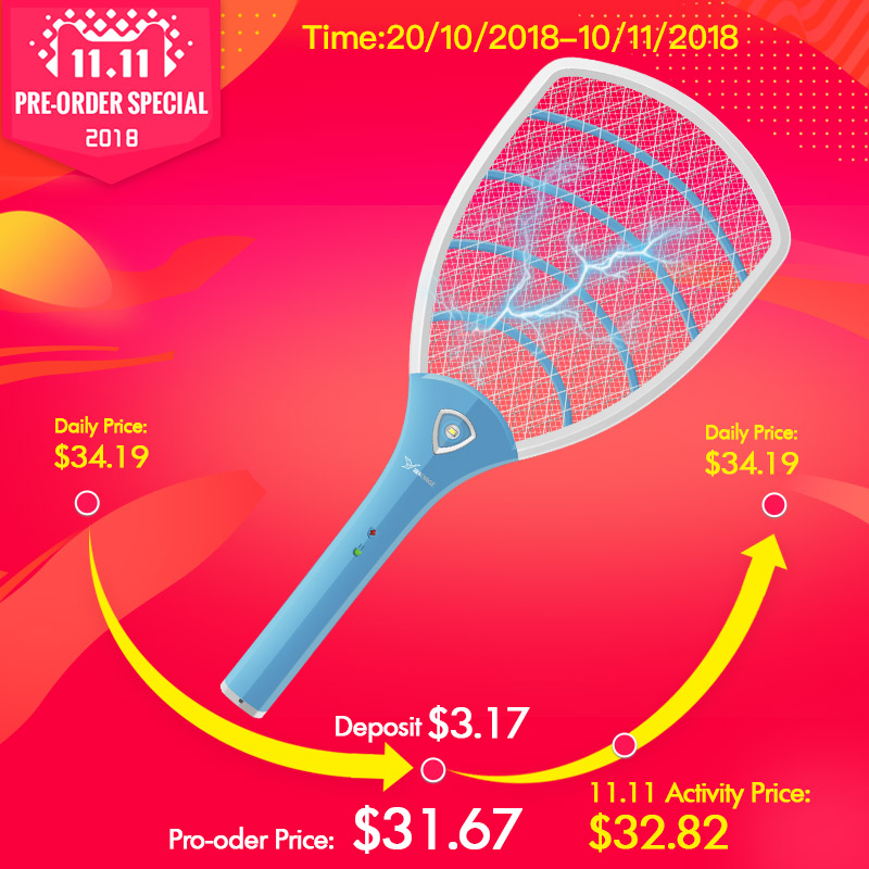 Control, Swatter, Racket, Touch, Lights, With