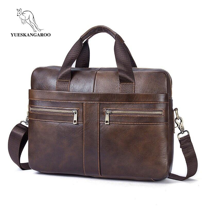 8873f1fd4d65 Купить Yueskangaroo Для мужчин Портфели сумка для ноутбука мужской  натуральная кожа сумка Для мужчин Сумки Многофункциональный Для мужчин  Дорожная сум.