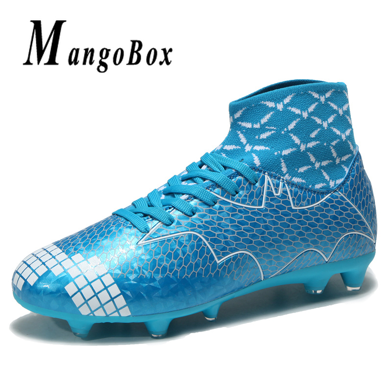 Detail Feedback Questions about Boy High Ankle Soccer Cleats Men Latest  Soccer Sock Boots Brand Mens Shoes Sports Soccer Shoes Orange Green  Football Boots ... cf584e6d9af