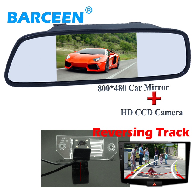 Suitable for Ford-focus sedan wire car rearview camera bring 8 led ccd lens and Dynamic track line +5 for all car use mirror
