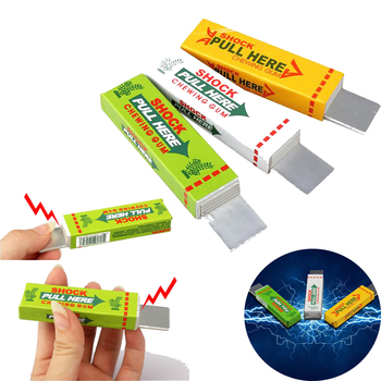 Aniti-stress  Fun Electric Toy Funny Tricks For Children Safety Trick Joke Chewing Gum Pull Head Practical Jokes Shocker - discount item  21% OFF Novelty & Gag Toys