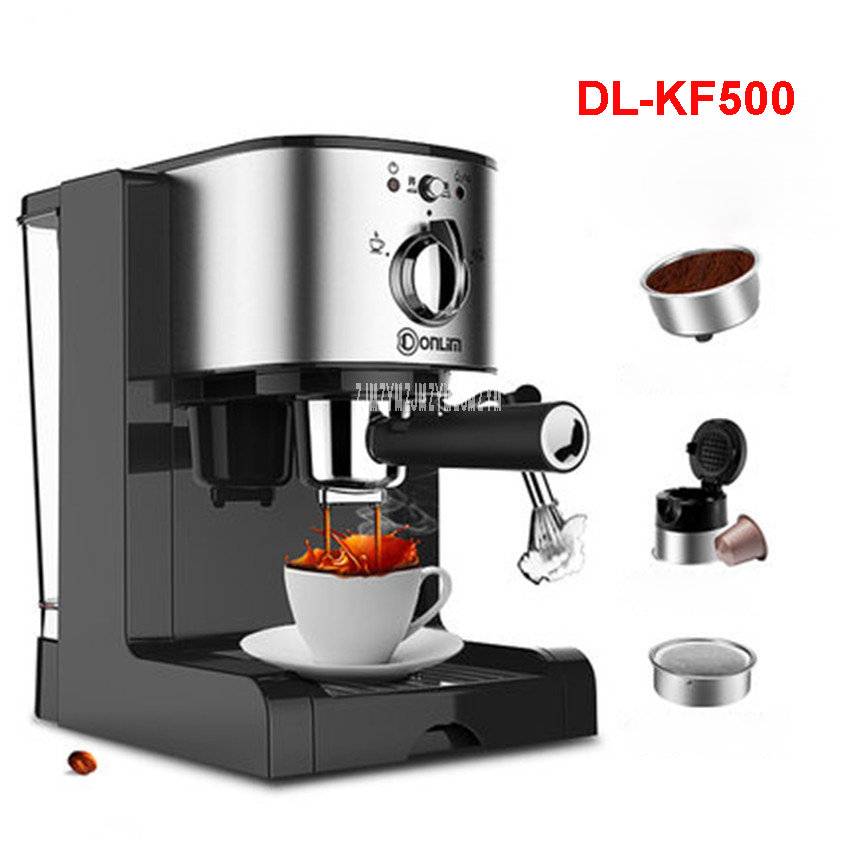 DL-KF500 220V/50Hz Fully Automatic Coffee Machine 1350W Coffee Machine for American Coffee Machines food grade PP material 1.5L tp760 765 hz d7 0 1221a