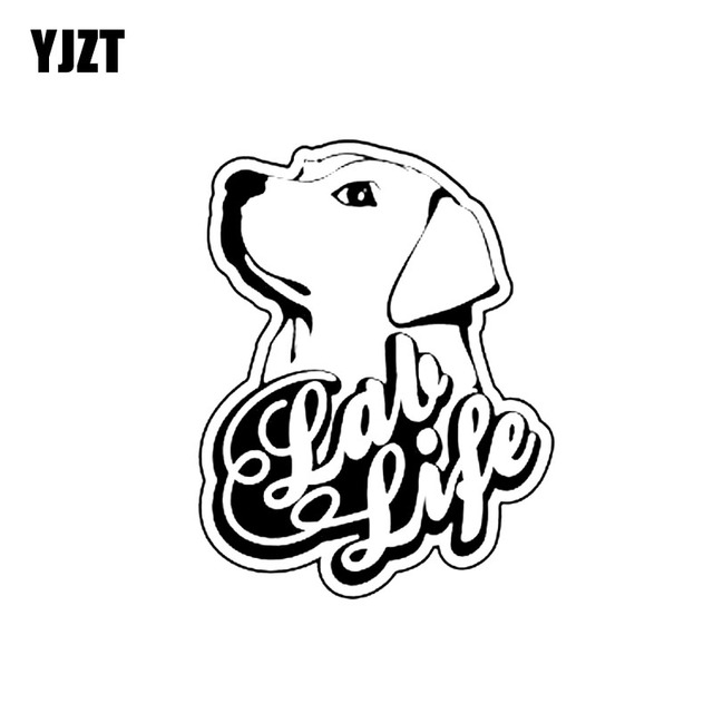 Yjzt 9 9cm12 7cm Sweet Labrador Dog Vinyl Car Sticker Decals Black