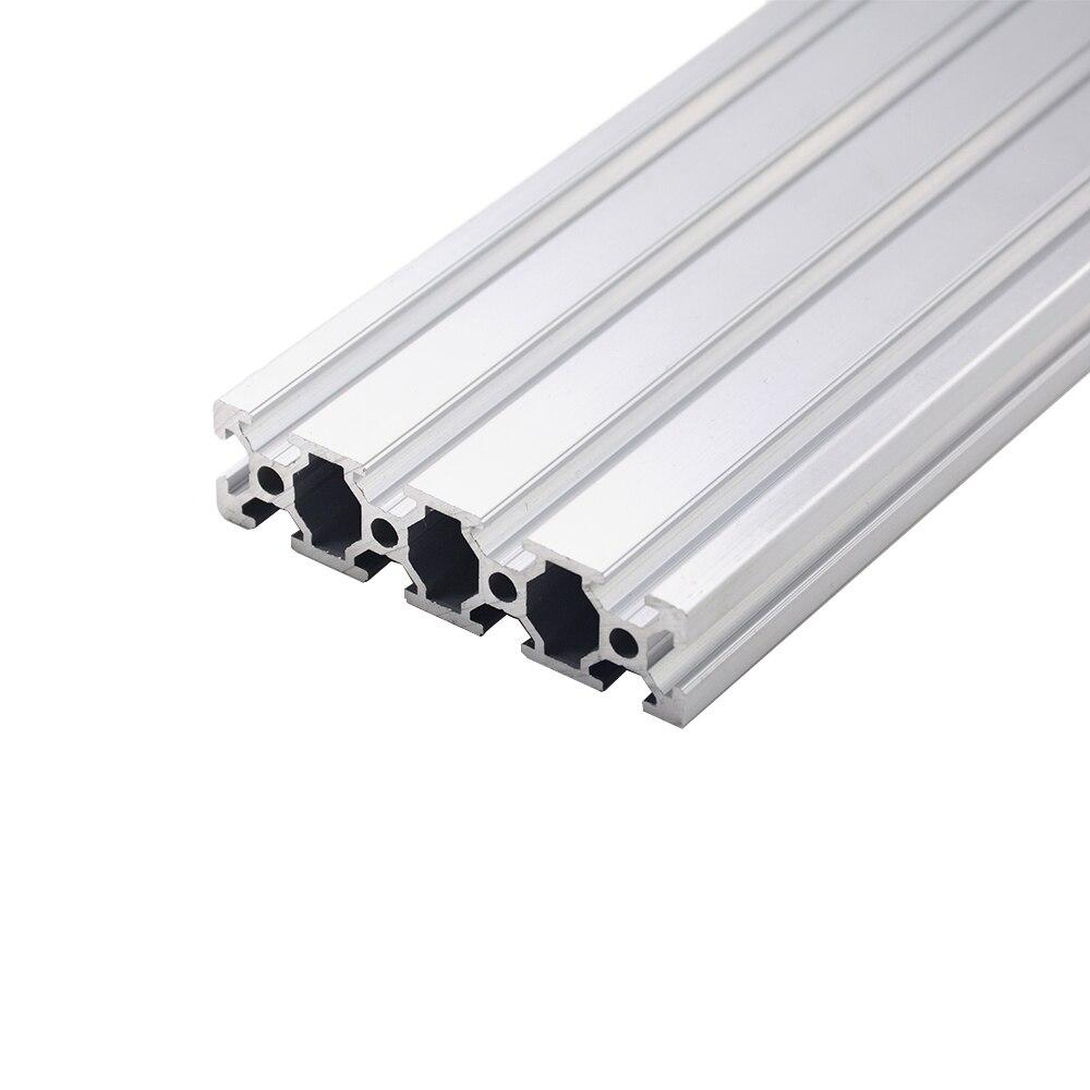 1 pc 2080 profilé en aluminium norme européenne anodisé 200 300 350 500mm profilé en aluminium 2080 Extrusion 2080 CNC pièce d'imprimante 3D