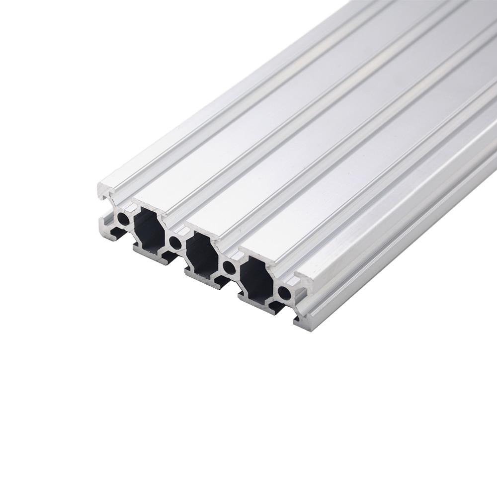 1pc 2080 Aluminum Profile European Standard Anodized 200 300 350 500mm Aluminum Profile 2080 Extrusion 2080 CNC 3D Printer Part