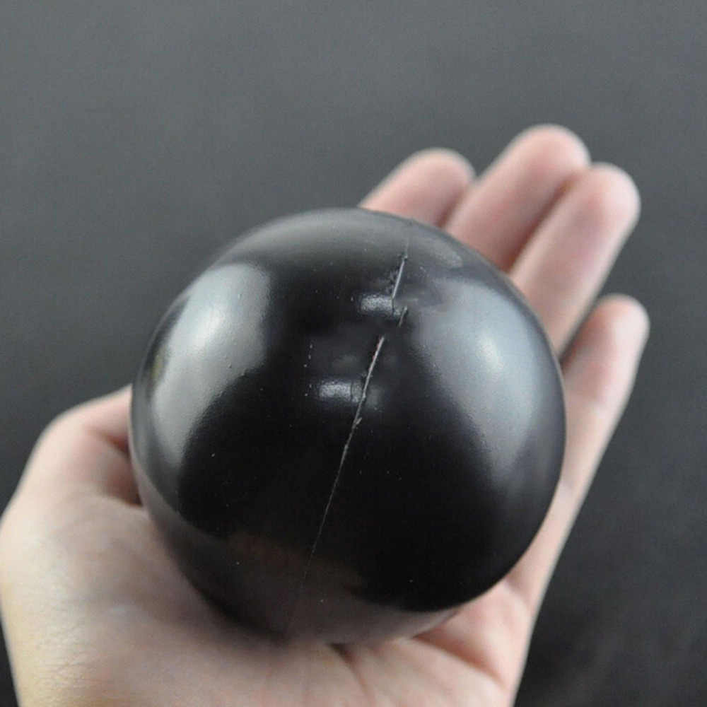 1PC Squishy Squeeze New Black Color Ball Shaped Stress Relief Ball Soft Squeeze Foam Ball Hand Wrist Exercise Stress Relief Toy