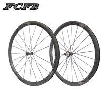 2017 FCFB road carbon wheels700C 25mm 38mm Carbon Clincher Tubular Bike Bicycle Wheels Super Light Carbon Wheels Racing Wheels