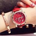 Женские часы  новинка 2019  стильные брендовые Роскошные наручные Часы GUOU  кожаный ремешок для часов для девушек  повседневные часы zegarek damski