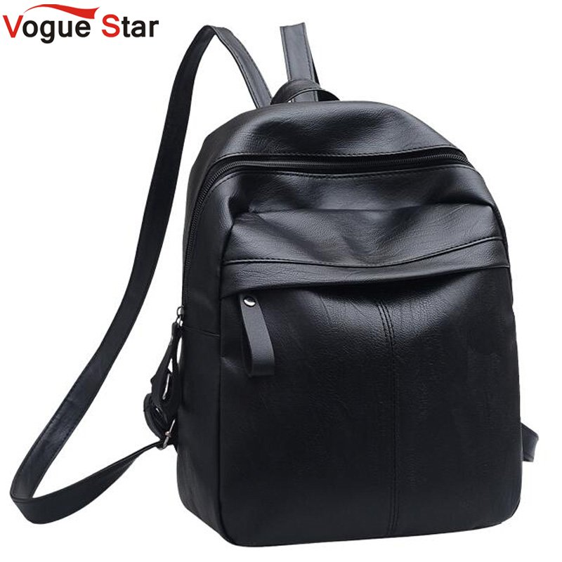 High Quality PU Leather Women Backpack Fashion Solid School Bags For Teenager Girls Large Capacity Casual Women Black Backpack L backpack women school bags brand backpacks women high quality large capacity teenager backpacks for teenage girls student bags