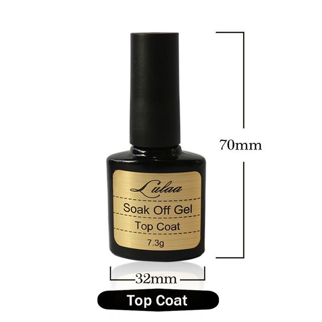 2016 hot-selling products of beauty LULAA Brand 10ML Top coat + Base coat, Uv Gel Nail Polish PrimerArt Women