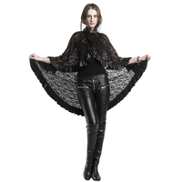 Steampunk Shawl Hooded Women Skirt Gothic Black Lace Cloth Shawls Women Lotus Skirt Multifunctional Cape Halloween Accessories