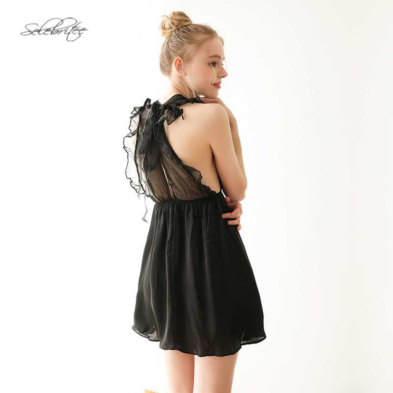 Chiffon Sleeveless Babydoll Dress