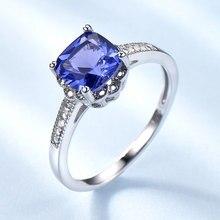 Umcho Romantische Gemaakt Tanzanite Blauw Statement Ringen 925 Zilveren Sieraden Voor Vrouwen Bruiloft Engagement Geschenken Fijne Sieraden