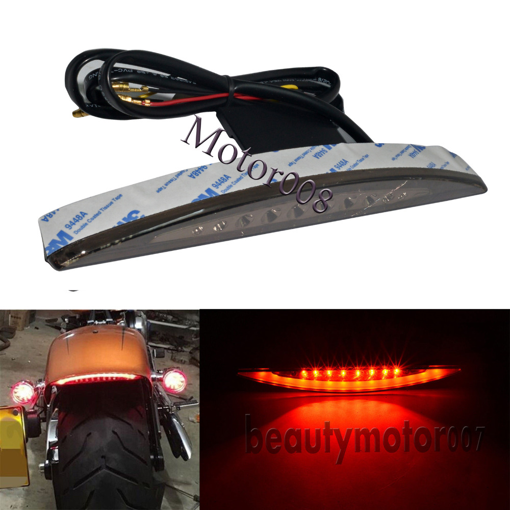 Motorcycle Bike Smoke  Rear Fender Tip LED Brake Tail Light Lamp For Harley Breakout FXSB 2013 2014 2015 2016 2017Motorcycle Bike Smoke  Rear Fender Tip LED Brake Tail Light Lamp For Harley Breakout FXSB 2013 2014 2015 2016 2017