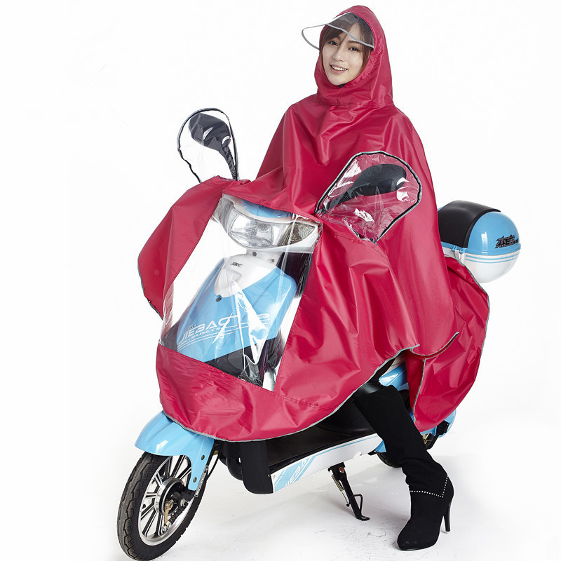 Electric motorcycle bicycle bike adult raincoat Conjoined mountain single person man women Electrombile Rainwear Large Size YY66