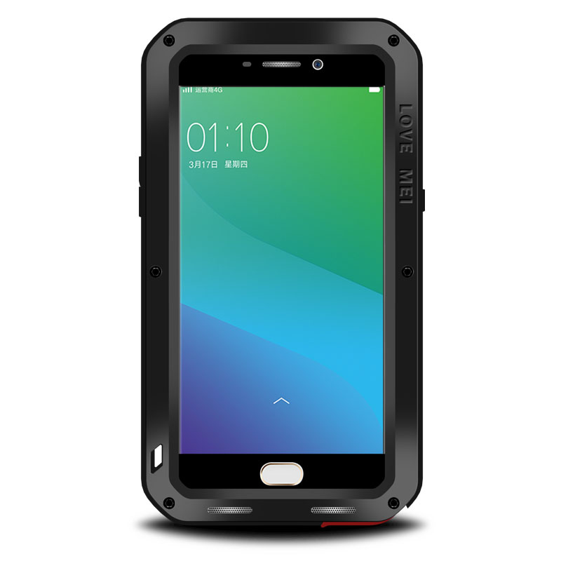Aluminum Metal Case For OPPO R9 Plus Cover Powerful Armor Shockproof Life Waterproof Case For OPPO R9 Plus Coque Fundas