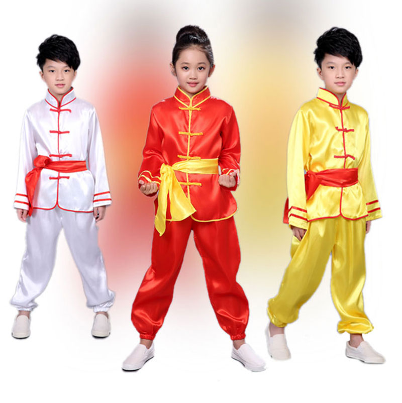 be3ac818cd3 Big Discount Children Tae Kwon Do Kids Wushu Boy Chinese Traditional  Clothing China Kungfu Suit Kung Fu Uniforms For Girl Costumes Kungfu