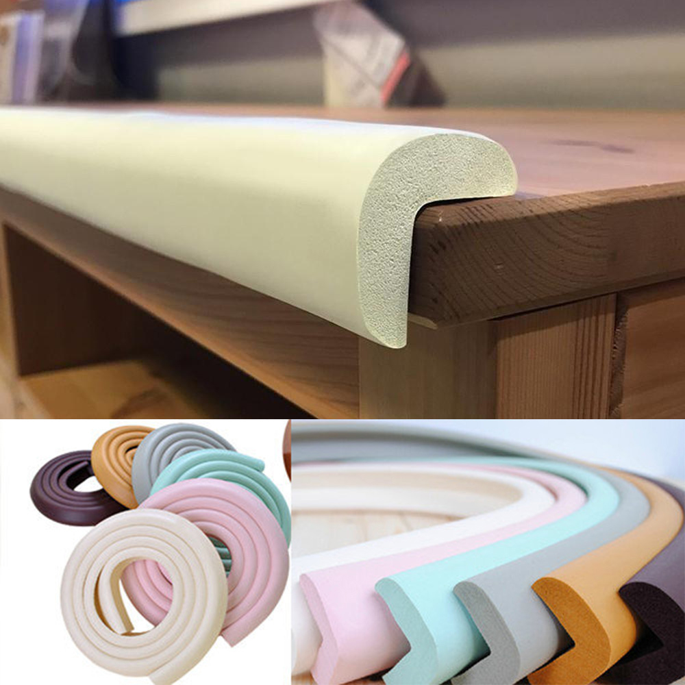 Kids Table Protection Guard Strip Baby Safety Products Glass Edge Furniture Horror Crash Bar Corner Foam Bumper Strip Collision