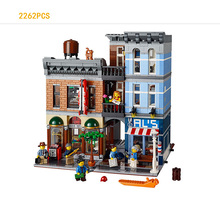 2017 Hot creators street view 2262pcs detective office building block compatible legod city 10246 toys for kids gifts