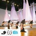 XC Volle Set Aerial Yoga Hängematte 5 m x 2,8 m 20 Farbe Qualität Air Yoga Hängematte + 2 Pcs karabiner + 2 Pcs Daisy Kette Set Qualität Yoga Gürtel