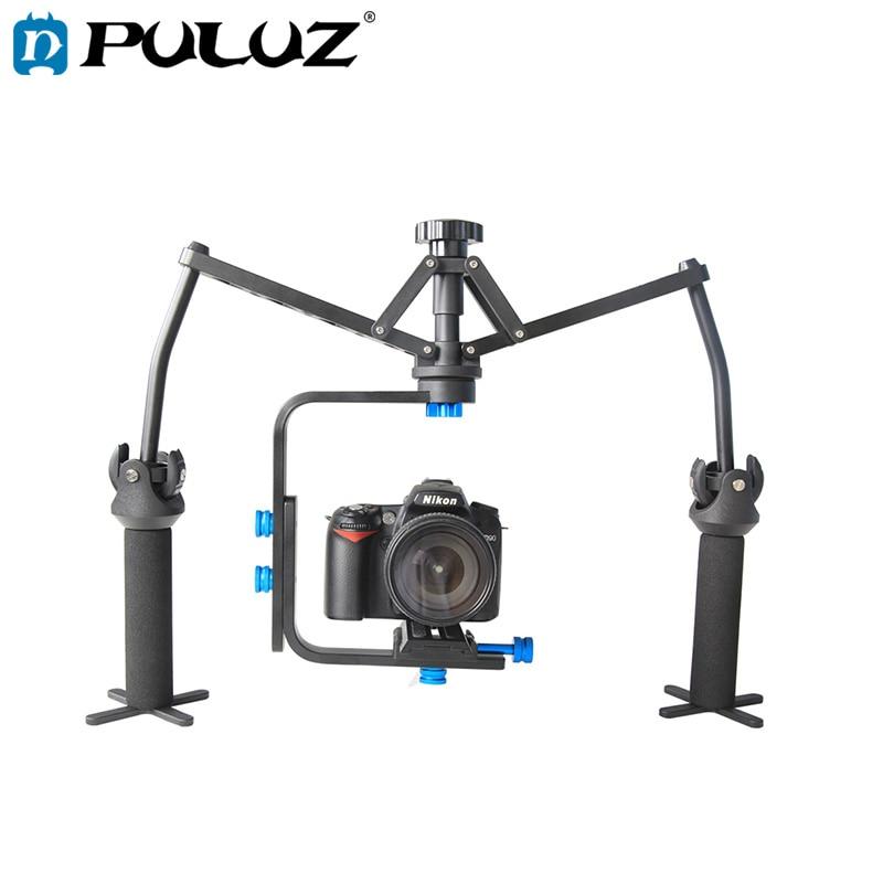 PULUZ DSLR Foldable Rig Handheld Mechanical Spider Stabilizer with Quick Release Plate for Camcorder DV Video Camera DSLR