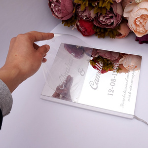 Image 4 - Custom Wedding Signature Guest Book Personalized Mirror Cover Empty White Blank Pages Book Bridal Favor Gift Party Decor