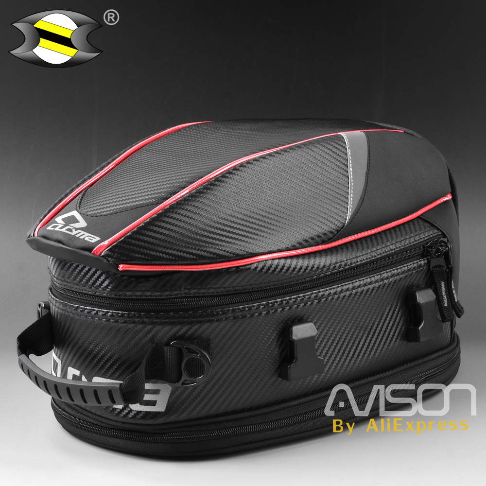 The Motorcycle Tail Bags Back Seat Bags Kit Travel Bag  Motorbike Scooter Sport Luggage Rear Seat Rider Bag Pack Мотоцикл