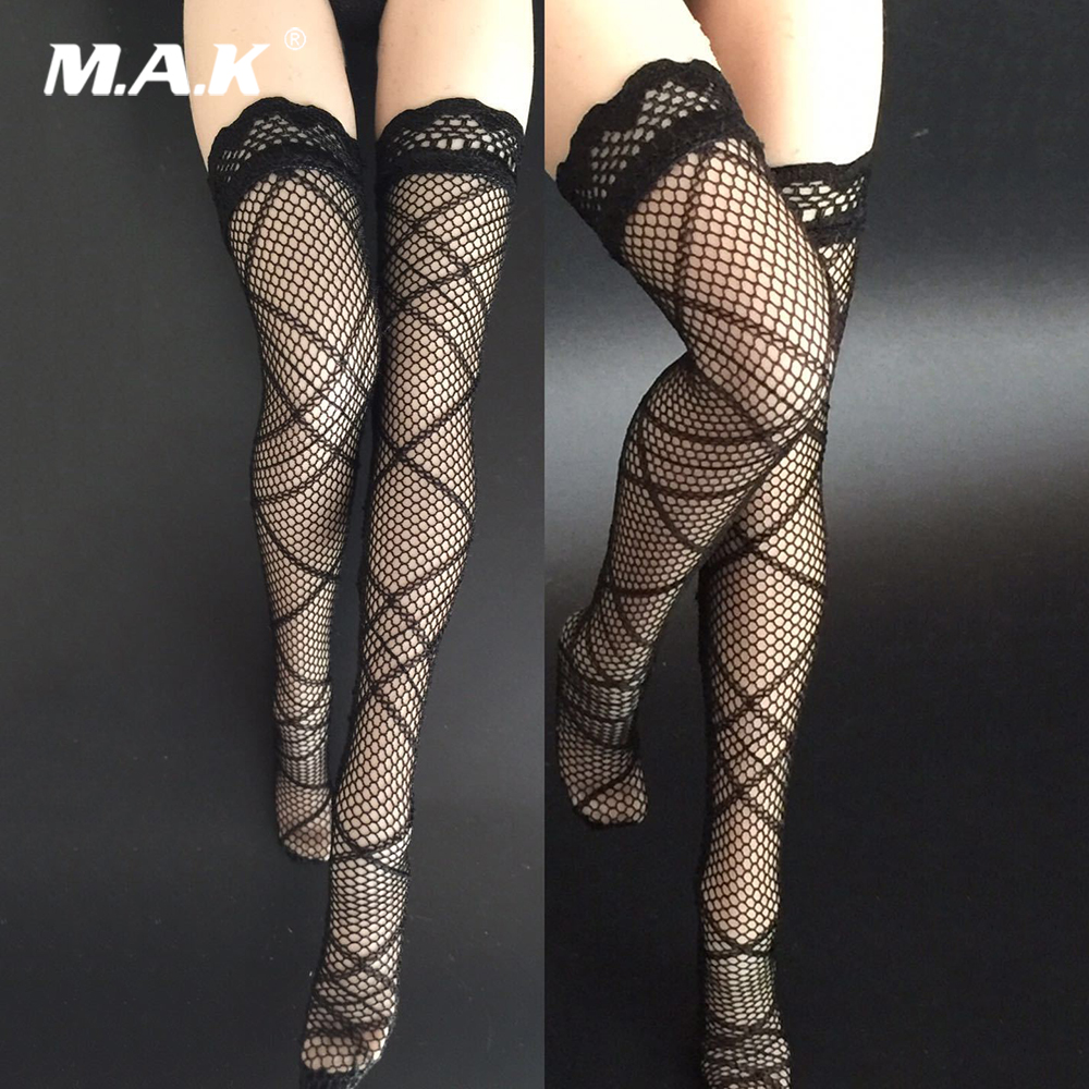 """2 Pair 1//6 Female Lace Stocking Socks for 12/"""" Girl Doll Action Figure Body"""