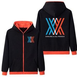 Image 3 - 뜨거운 판매 후드 애니메이션 darling에서 franxx 코스프레 까마귀 지퍼 스웨터 코트 hoody 스웨터 & 후드 5 색