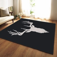 Nordic 3D Christmas Deer Carpet Bedroom Kids Play Mat Soft Flannel Memory Foam Big Area Rugs Carpet for Living Room