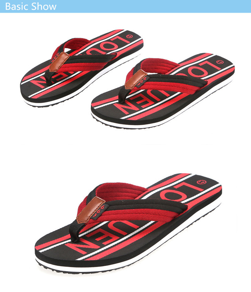 ... LOULUEN High Quality Slippers 2018 New Summer Beach Slippers Men Shoes  Flip Flops EVA Stripe Male ... d25cbdbb22a8