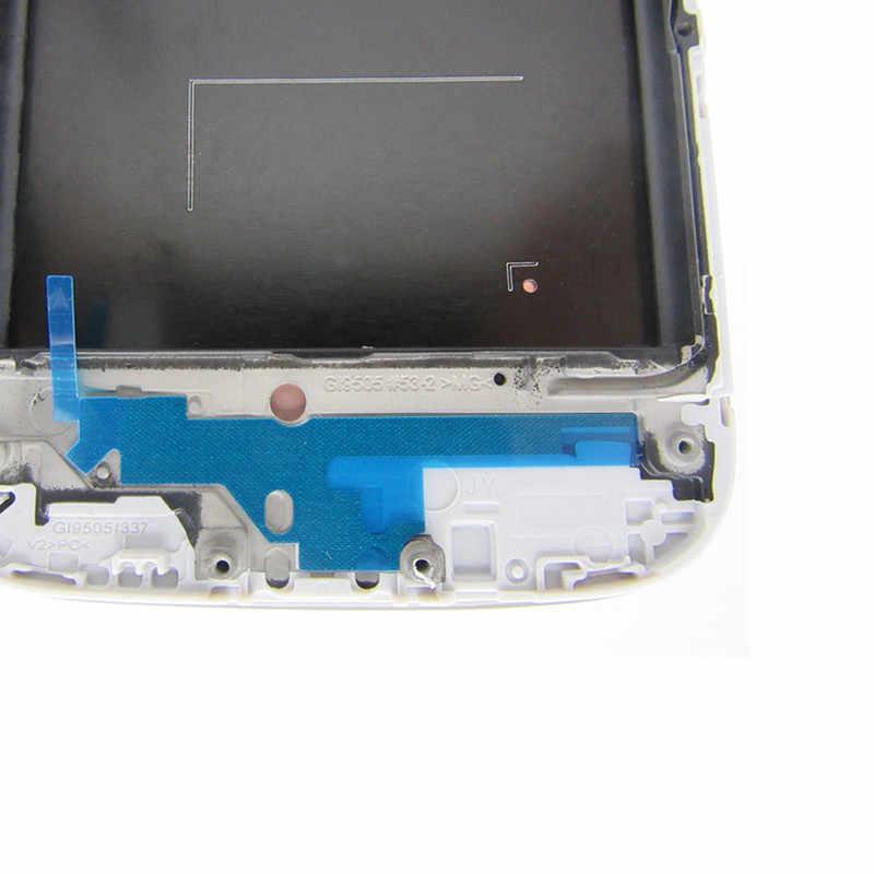 عالية الجودة سوبر AMOLED شاشات lcd لسامسونج غالاكسي S4 i9505 شاشات الكريستال السائل عرض شاشة رقمية تعمل بلمس مع الإطار الحافة الجمعية استبدال