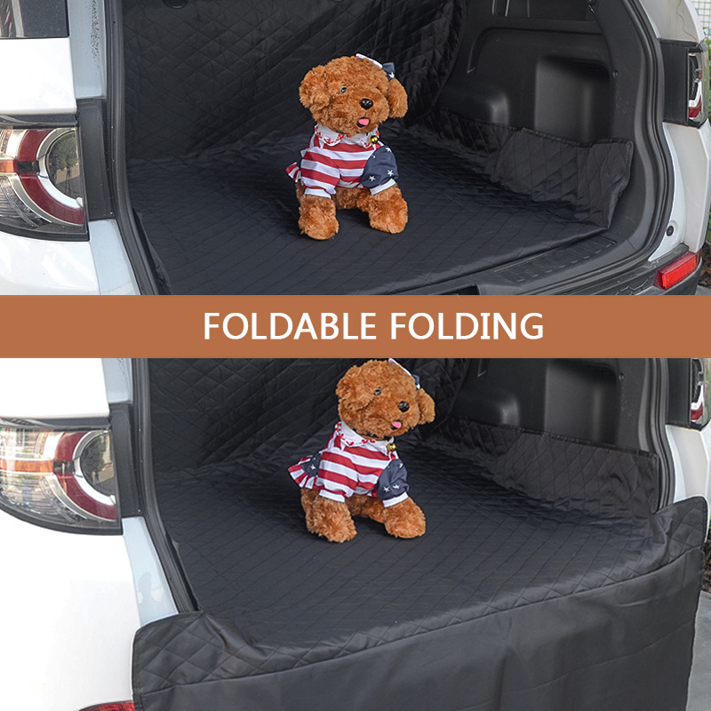 Car Pet Seat Cover Trunk Mat Tarpaulin Waterproof Oxford Cloth Dog Cat Back Seat Covers Rear Auto Pad Car Protection Blanket 4