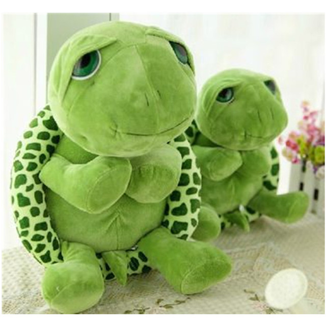 2018 New arriving 20cm Army Green Big Eyes Turtle Plush Toy Turtle Doll Turtle Kids As Birthday Christmas Gift Free shipping 2